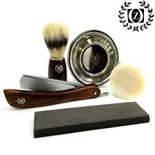 Shave Ready Straight Razor Whet Wet Stone Shaving Kit Grooming Set Close Shave