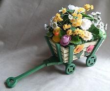 Baby Girl Sock Bouquet Flower Arrangement in Flower Wagon - One of A Kind Gift!