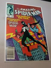 The Amazing Spider-Man 252 First 1st Appearance Black Costume Newsstand High Gra