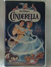 Cinderella Walt Disney 1988 The Classics Black Diamond Collection VHS Rare EUC
