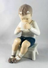 Bing & Grondahl B&G Victor Boy Drinking Milk on Stool Figurine #1713 Free Ship