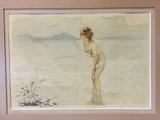 Vintage Watercolor Painting After Paul Emile Chabas September Morn