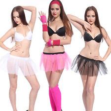 Vestido De Baile 80s Mini Falda Tutú Para Damas Niñas Neón Fiesta Disfraz Elaborado Ballet