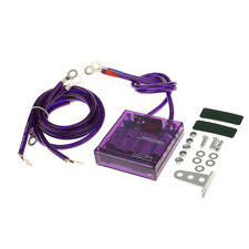 Purple Universal Car Fuel Saver Voltage Stabilizer Regulator with Wries Kits