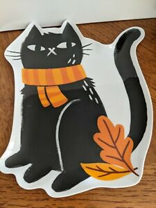 Figural Halloween Fall  Black Cat Melamine Plate-NWT Hyde and EEK! Boutique