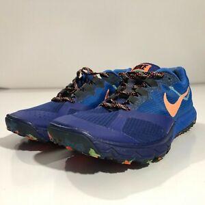 Nike Zoom Wildhorse Trail Running Shoe Womens 9 Blue Multicolor 654442-400