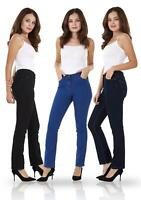 Ladies Straight Leg Denim Womens Pants Stretch Regular Fit Jeans