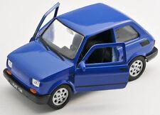 Spedizione LAMPO FIAT 126 P Blu/Blue Welly Modello Auto 1:27 NUOVO & OVP