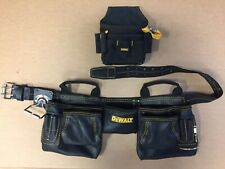DEWALT HEAVY DUTY LEATHER TOOL CARRIER BELT BAG POUCH POUCHE
