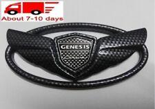1pcs GENESIS COUPE GLOSSY Black Carbon Fiber EMBLEM Front Grille OR Trunk Badge