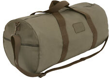 Olive Drab Canvas Gym Duffle Carry Shoulder Bag with Loop Patch