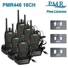 6x Baofeng Walkie Talkies Long Range PMR Two Way FM Radio License Free + Headset