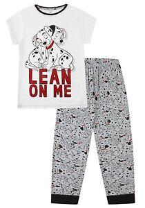 Ladies Disney 101 Dalmatian Lean On Me Cotton Pyjamas for Women