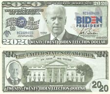 Joe Biden for President 2020 Dollar Bill Fake Play Funny Money Note +FREE SLEEVE