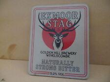 Golden Hill Exmoor Stag Ale Beer Plastic Pump Clip face Pub Bar Collectible 35