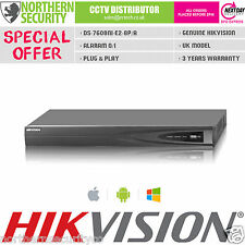 Hikvision NVR 8 Ch 8 POE ONVIF P2P Vca análisis 6MP Red IP Video Grabadora