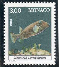 TIMBRE DE MONACO N° 1618 ** FAUNE / POISSON / OSTRACION LENTIGINOSUM