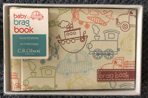 Toot Toot Grandma's Brag Book CR Gibson Boats Planes & Trains Holds 20 Pic 2012