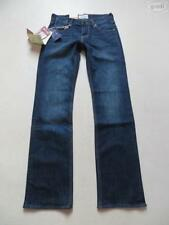 Indigo -/darkwashed Damen-Jeans mit mittlerer Bundhöhe Hosengröße W27