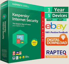 Kaspersky Internet Security 2020 5 Device 1 year (PC/Mac/Android) UK VAT EMAILED
