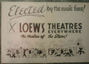 1936 LOEW'S THEATRE MGM Movies 2-PAGE Vintage Ad Cities Boston New Orleans More