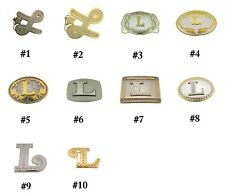 Initial L Letter Belt Buckle Alphabet Monogram Multiple Styles Cowgirl Western