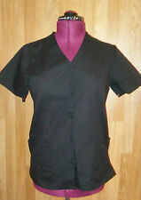 Suite Styles by Medline ladies XS black scrub top and pant snap front nwot
