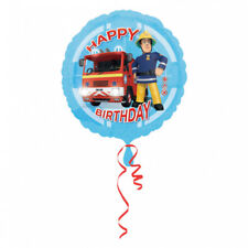 "1 X Fireman Sam Happy Birthday Anagram 18"" / 45cm Helium Foil Balloon 3013201"