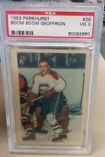 Boom Boom Geoffrion 1953 Parkhurst Hockey Card #29 PSA VG 3