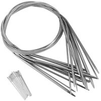 11PCS Stainless Steel Circular Knitting Needles Crochet Hook Weave Set C1B7