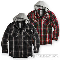 SURPLUS VINTAGE LUMBERJACK JACKET CLASSIC RUGGED RAW HOODED CHECKED PADDED