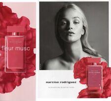 Publicité papier glacé+ patch -  Fleur Musc de Narciso Rodriguez 1 page 1/2