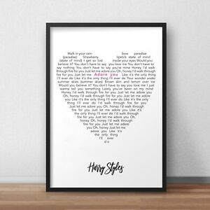 ADORE YOU Harry Styles Song Lyrics Poster Print illustration Wall Art Decor