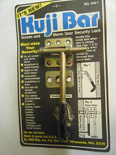 KUJI-BAR Storm Door Night SECURITY LOCK, Heavy Steel, QUALITY Made In U.S.A.