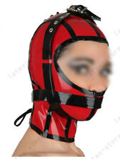 6071 Latex Rubber Gummi Binder belts Masks Hood lace up customized catsuit 0.4mm