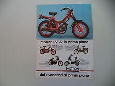 advertising Pubblicità 1980 MOTRON SV3 R 50/RA - G1/GL4 GL 4/SA