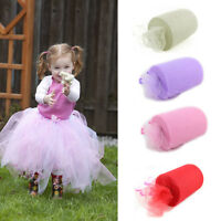 6''x100 Yards Tutu Tulle Roll Spool DIY Soft Netting Crafts Fabric Bows Wedding