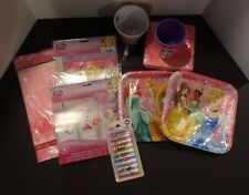 New Lot of Disney Princess Party Supplies (Snow White, Rapunzel, Cinderella, Bel