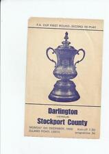 Darlington FA Cup Home Teams C-E Football Programmes