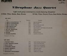 KPM 1091 LIBRARY LP ~ VIBRAPHONE JAZZ QUARTET ~ BILL LE SAGE ~ TONY KINSEY