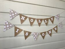 1st Birthday Decoration Bunting Banner Party Personalised Sign Cake Smash