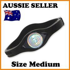 1 x New Power Balance Silicone Wristband Size Medium 19cm Black in box fast del