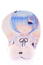 P-X-0943 Rem Anime Manga Girl Mädchen ergonomisch Silikon Handauflage Mauspad