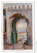 Casba View - Tanger Art Postcard c1910 / Tangier