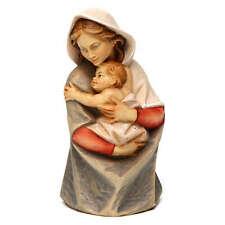 Statua busto Madonna legno dipinto Val Gardena