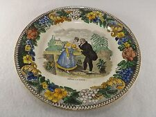 Early 19th C. Creil Transfer Ware Faience Plate Montereau L. Lebeuf & Thibault