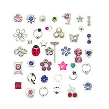 Lot 20 Sterling Silver Straight Nose Stud Ring Mixed Designs 22G
