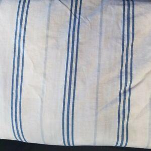 Ralph Lauren Home King Flat & Fitted Blue Striped Beige Sheet Set 100% Cotton