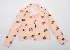 Vero moda Womens Size S Floral Peach Shirt (Regular)