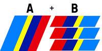 SET DE BANDES CALANDRE + COFFRE POUR PEUGEOT 205 SPORT GTI STICKER AUTO BA223224